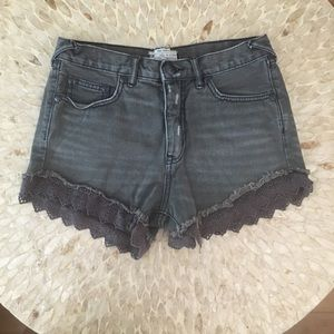 Free People Women's Gray Shorts Size 26 NWOT